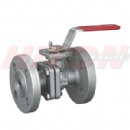 2PC Flanged Ball Valve With ISO5211 Top Flanged