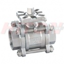3PC Ball Valve With ISO5211 Top Flanged
