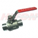 2PC Ball Valve With Grooved End
