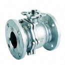 2PC Flanged Ball Valve with ISO5211 Direct Mounting Pad