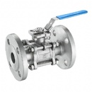 3PC Flanged Ball Valve PN16 PN40 With ISO5211 Top Flanged