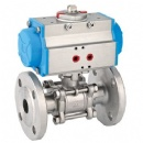 3PC Flanged Ball Valve With Pneumatic Actuator